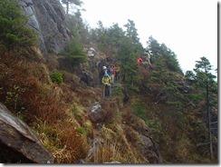 16岩稜帯の通過