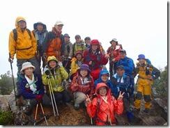 12東赤石山、山頂にて登頂写真