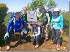 2-28 5座目、障子岳の登頂写真
