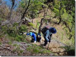 1-15傾山本峰への急登