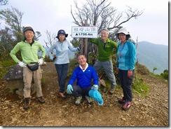 2-47 6座目祖母山にて登頂写真