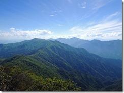 1-18今日は素晴らしい天気、傾山~祖母山縦走路