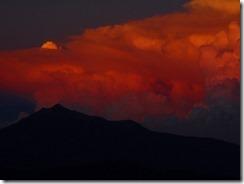 2-32剣山から見る夕焼けの剱岳
