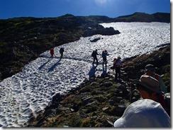 1-09雪渓をトラバース