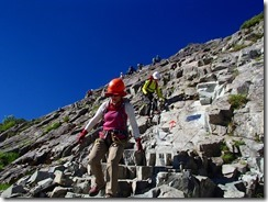 2-13登ったとおもったら岩場の下り、緊張の糸を緩めないように。