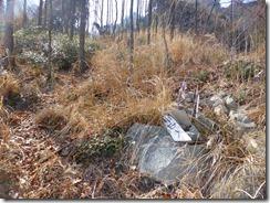 2-39鹿ネット、伐採で登山道は歪んでいます、要注意です