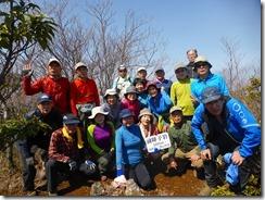 2-33前障子岳にて登頂写真