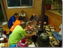 1-22民宿での夕食風景
