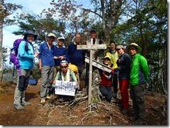 2-24春は朽ちた標識でしたが、夏木山山頂にて登頂写真