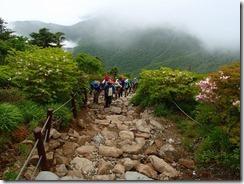27石組みの登山道