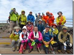 17漢拏山山頂にて登頂写真