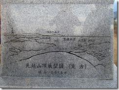 36山頂の方位石柱