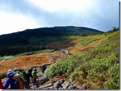 11大勢の登山者が歩いています