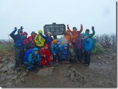 05磐梯山にて登頂写真、2mほど背が低くなっています
