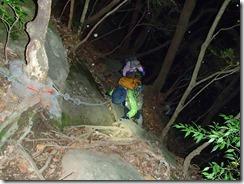 02 大崩山荘手前の岩場