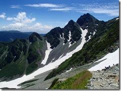 2-11左手に前穂高岳を見ながら登っていきます