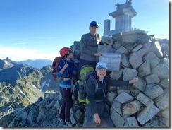 3-10日本で3番目に高い奥穂高岳(3190m)にて登頂写真