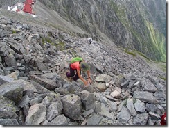 2-14今日は涸沢岳に登りました