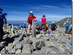 3-22前穂高岳は多くの登山者が居ました