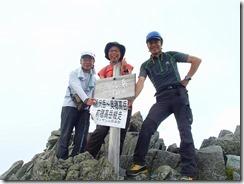 2-15涸沢岳(3110m)、登頂写真