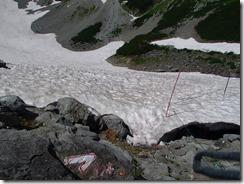 2-08雪渓を横切ります