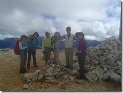 3-15野口五郎岳にて登頂写真