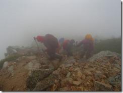 3-01鷲羽岳の急登の上り