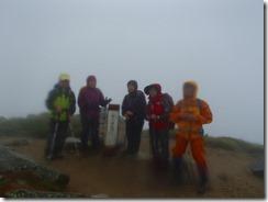 2-06双六岳登頂写真、この後、三俣蓮華岳から三俣山荘泊まりでした