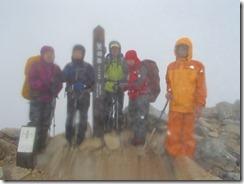 3-02鷲羽岳、日本百名山登頂写真