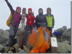 3-05水晶岳、日本百名山登頂写真