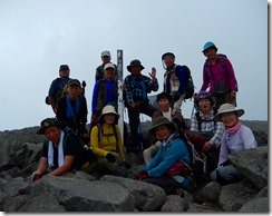 16蓼科山山頂です