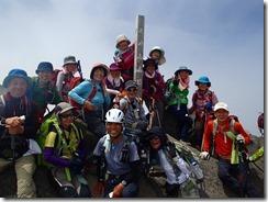 19今年の干支、羊蹄山での登頂写真、年男が居ました