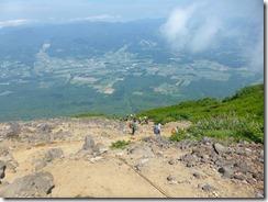 22荒れた登山道