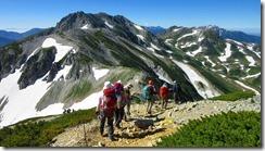 3-09縦走コース、雄山へ向かいます