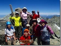 3-14大汝山(3015m)にて登頂