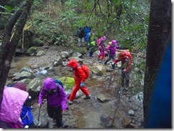 1-04渡渉ポイント、雨(水量)が多い時は渡れませんので登山中止になります