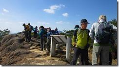 2-21岩峰の白嶽山頂、観海アルプスです