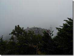 4-09光岳山頂はイマイチなので光石に登頂しました