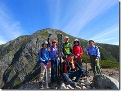 3-07小聖岳山頂から聖岳をバックに登頂写真