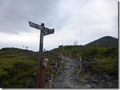3-04北横岳分岐、ここから北横岳を目指します