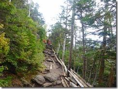 3-06岩ゴロゴロの登山道をジグザグに登っていきます