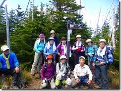2-22縞枯山登頂写真、山頂の展望はありません