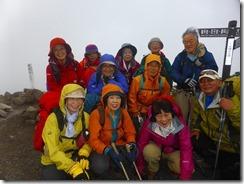 3-13北横岳北峰2480mにて登頂写真